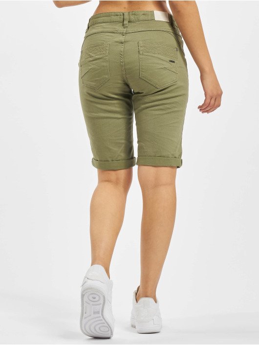 Stitch & Soul Shorts 5-Pocket Bermuda oliv