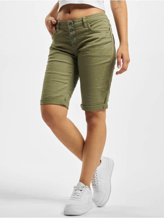 Stitch & Soul Shorts 5-Pocket Bermuda oliven