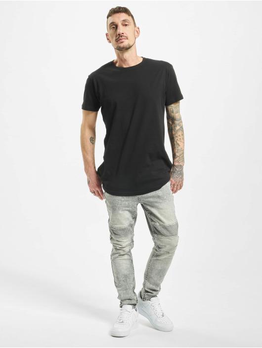 Stitch & Soul Slim Fit Jeans Acid Washed šedá