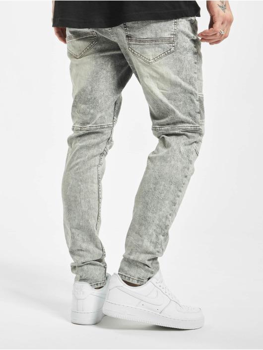 Stitch & Soul Slim Fit Jeans Acid Washed grau