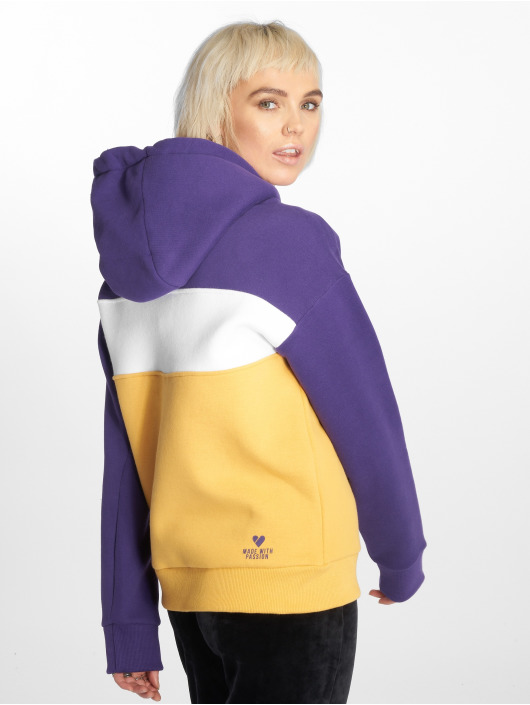 Stitch & Soul Sweat capuche Colour Block pourpre