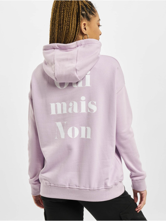 Stitch & Soul Sweat capuche Letter pourpre