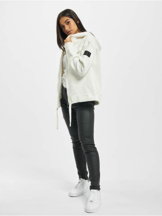 Stitch & Soul Sweat capuche zippé Alina blanc