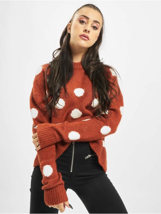 Stitch & Soul Swetry Dots pomaranczowy