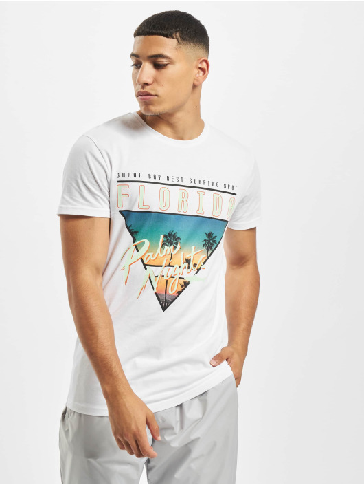 Stitch & Soul T-Shirt Florida blanc