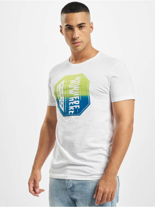 Stitch & Soul T-Shirt Tropical blanc