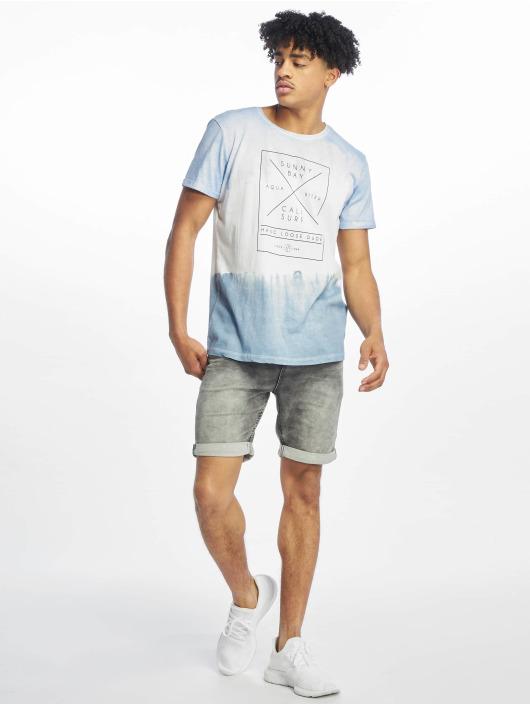 Stitch & Soul T-Shirt Batik blau