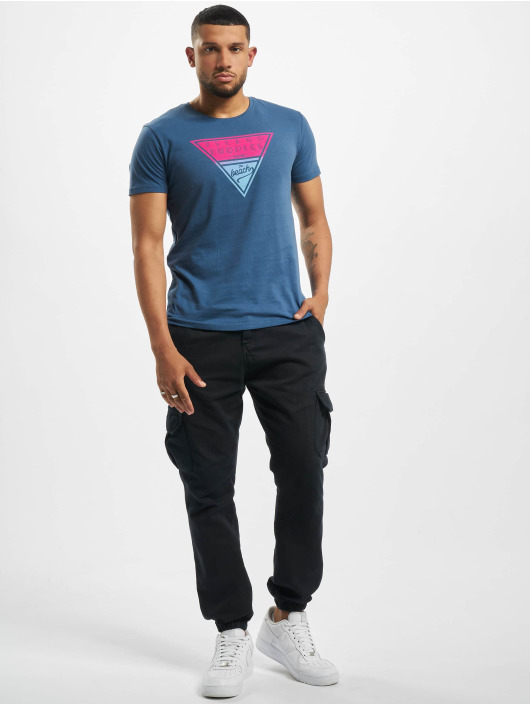 Stitch & Soul T-Shirt Tropical blau