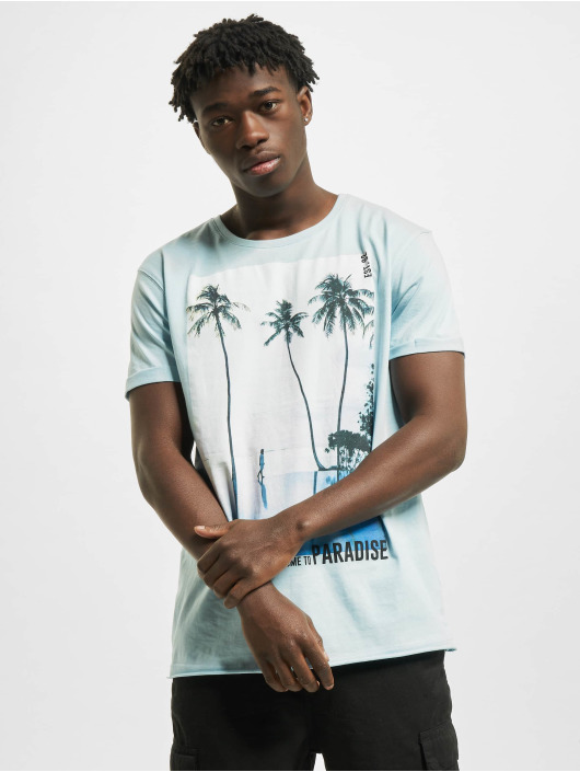 Stitch & Soul T-Shirt Paradise blau