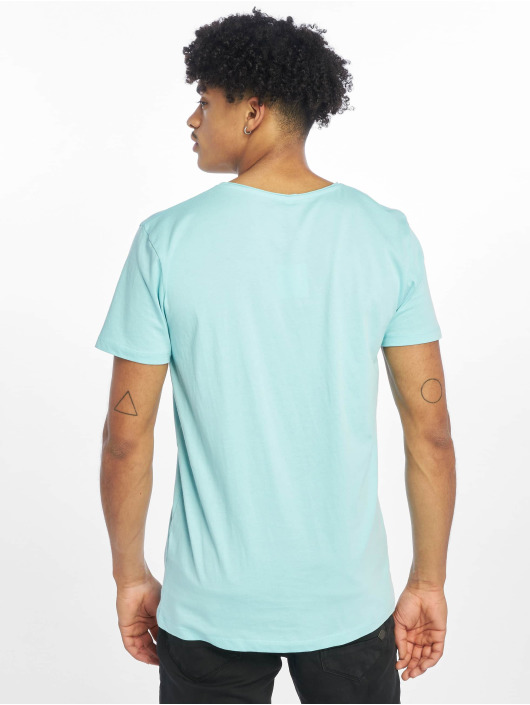 Stitch & Soul t-shirt Living Paradise blauw