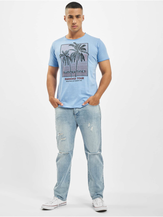 Stitch & Soul T-Shirt Summer Paradise blue