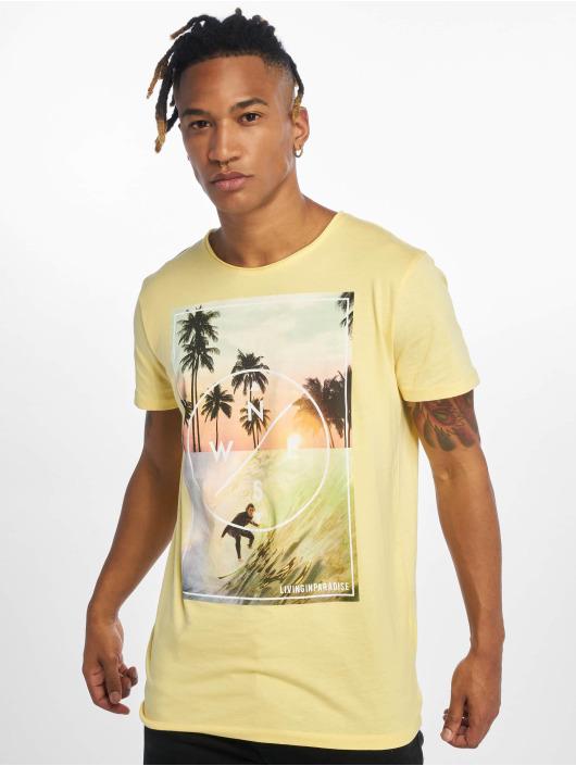 Stitch & Soul T-Shirt Living Paradise gelb