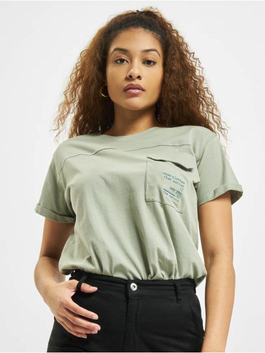 Stitch & Soul T-Shirt Pocket green