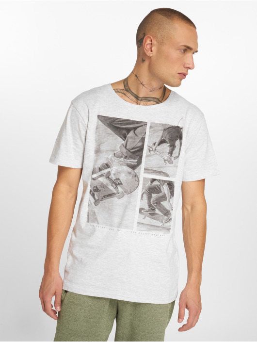 Stitch & Soul t-shirt Print grijs