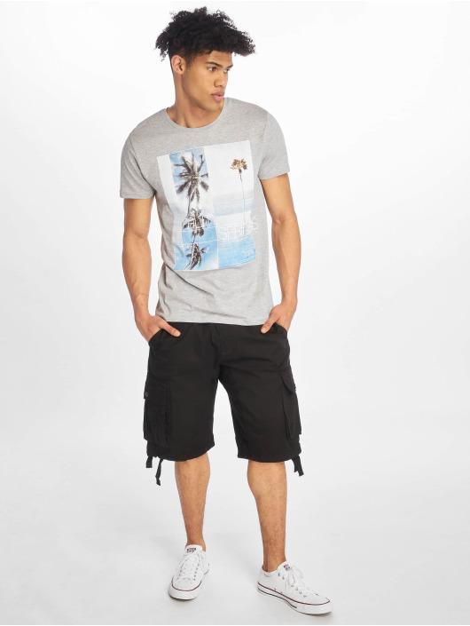 Stitch & Soul t-shirt Palm Springs grijs