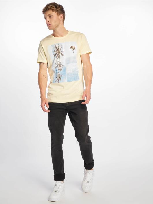Stitch & Soul T-Shirt Palm Springs jaune