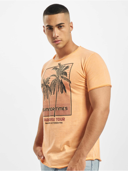 Stitch & Soul T-Shirt Summer Paradise orange
