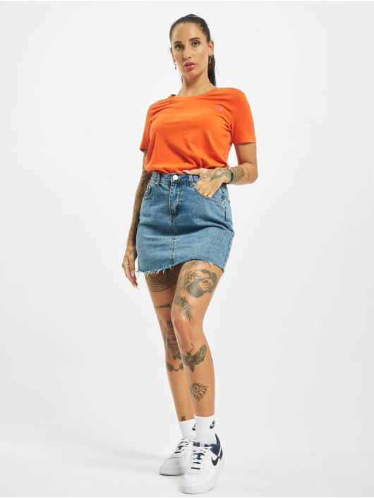 Stitch & Soul t-shirt Hearted oranje