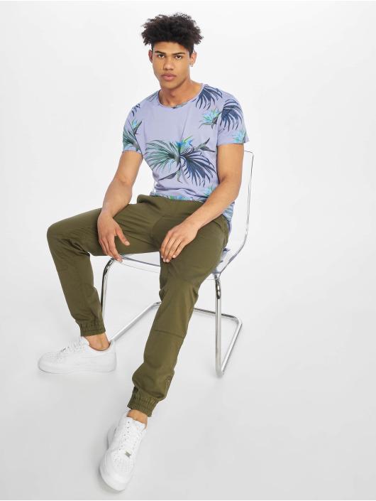 Stitch & Soul T-Shirt Floral pourpre