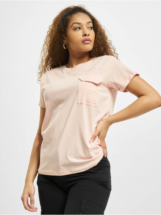 Stitch & Soul T-Shirt Pocket rosa
