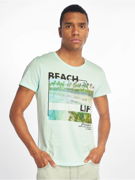 Stitch & Soul T-Shirt Beach Life türkis