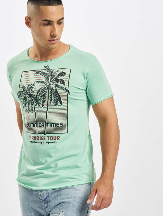 Stitch & Soul T-Shirt Summer Paradise türkis