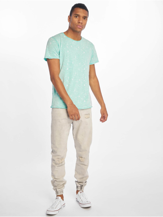 Stitch & Soul t-shirt Sprinkled turquois