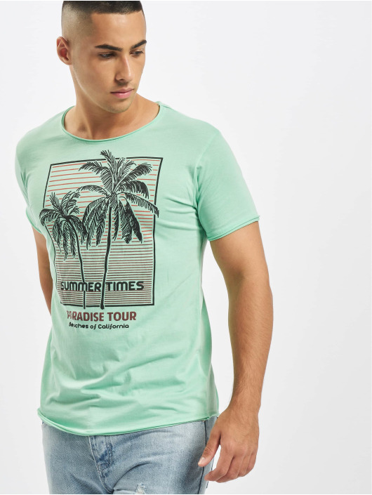 Stitch & Soul t-shirt Summer Paradise turquois