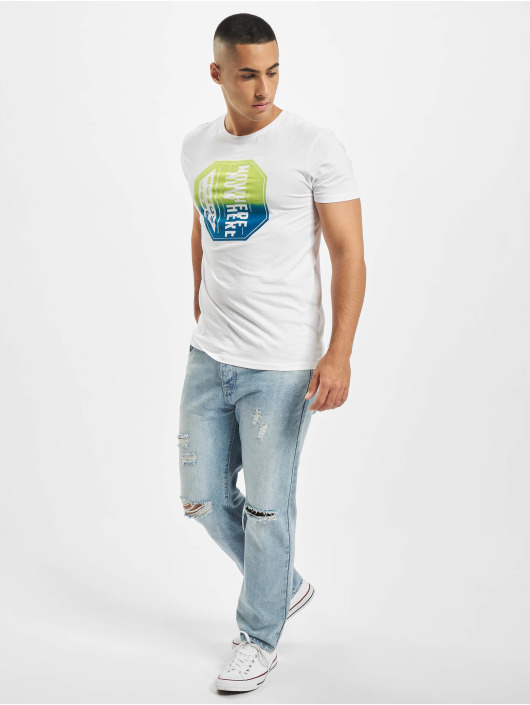Stitch & Soul T-Shirt Tropical weiß