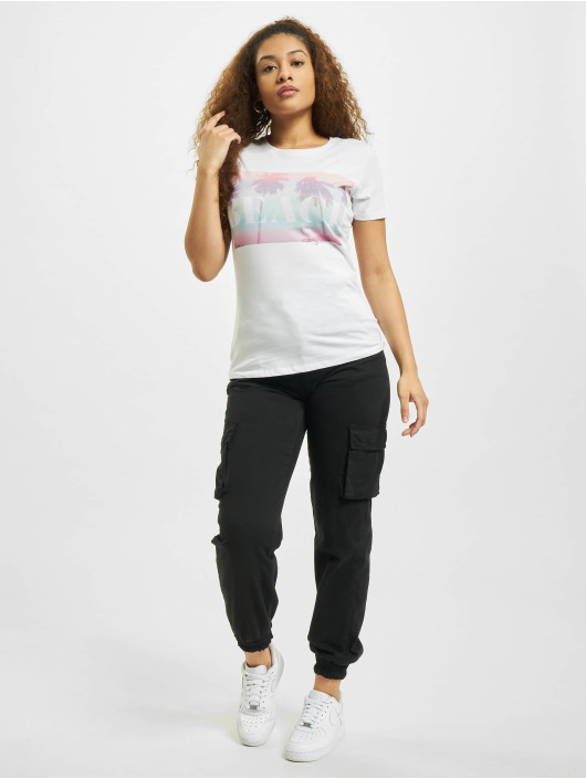 Stitch & Soul T-Shirt Beach weiß