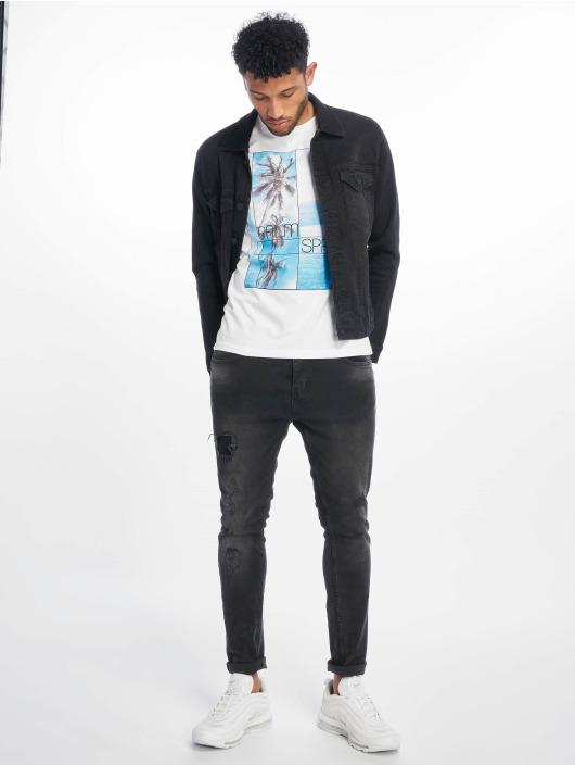 Stitch & Soul T-Shirt Palm Springs white