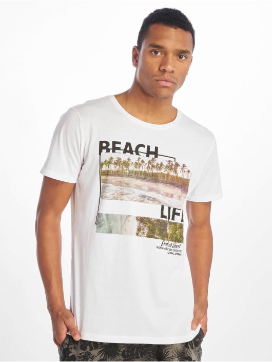 Stitch & Soul T-Shirt Beach Life white