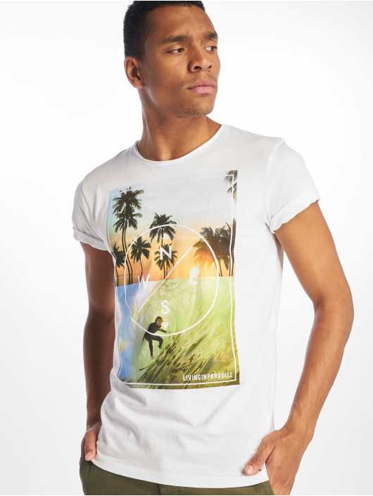 Stitch & Soul t-shirt Living Paradise wit