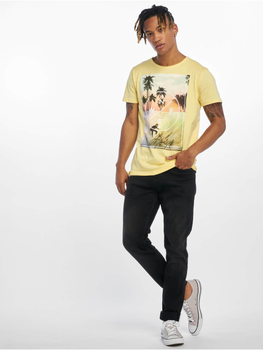 Stitch & Soul T-Shirt Living Paradise yellow