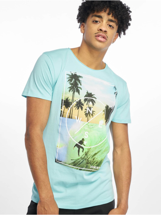 Stitch & Soul T-shirts Living Paradise blå
