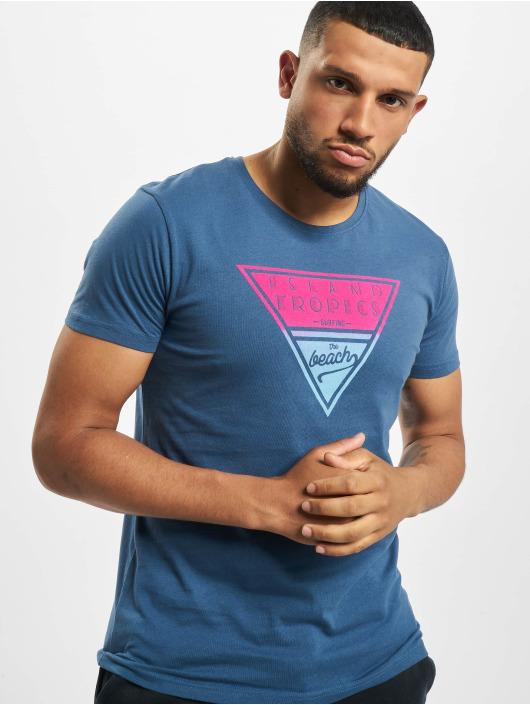 Stitch & Soul T-shirts Tropical blå