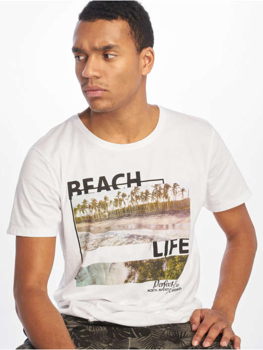 Stitch & Soul T-Shirty Beach Life bialy
