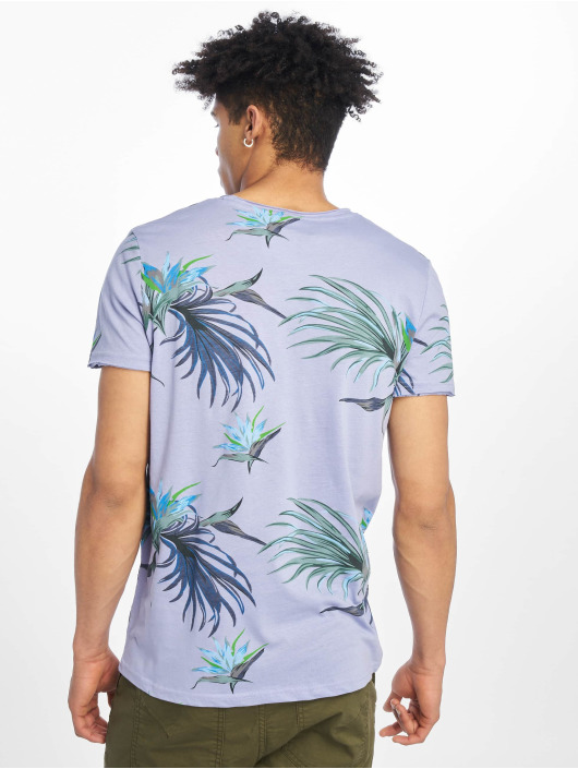 Stitch & Soul T-Shirty Floral fioletowy