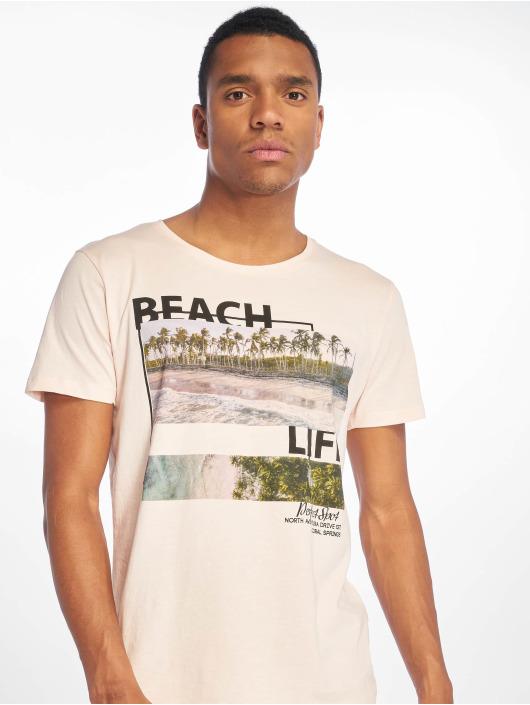 Stitch & Soul T-Shirty Beach Life rózowy