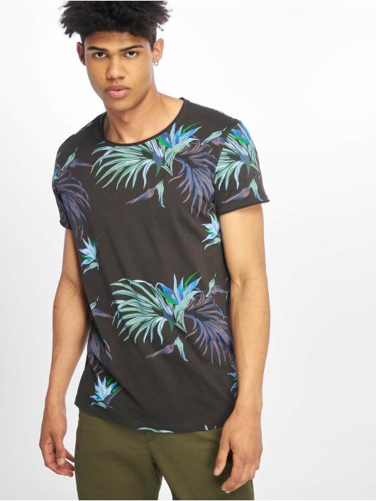 Stitch & Soul T-Shirty Floral szary