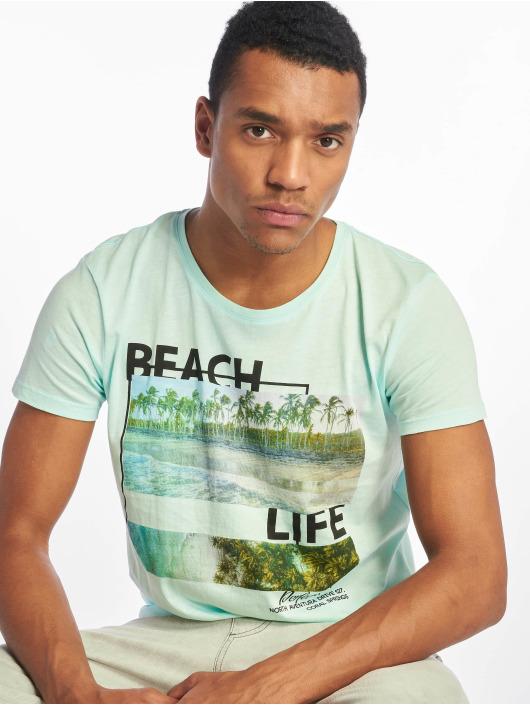 Stitch & Soul T-Shirty Beach Life turkusowy