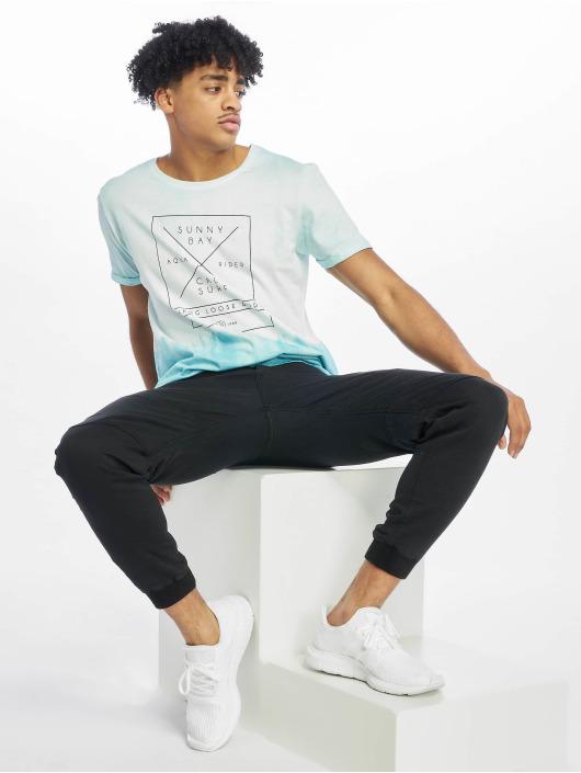 Stitch & Soul T-Shirty Batik turkusowy