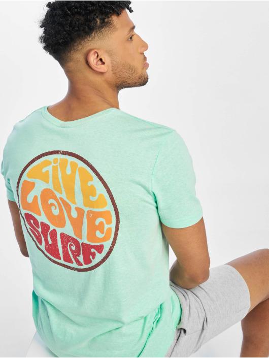Stitch & Soul T-Shirty Surf turkusowy
