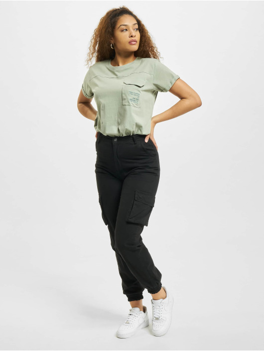 Stitch & Soul T-Shirty Pocket zielony
