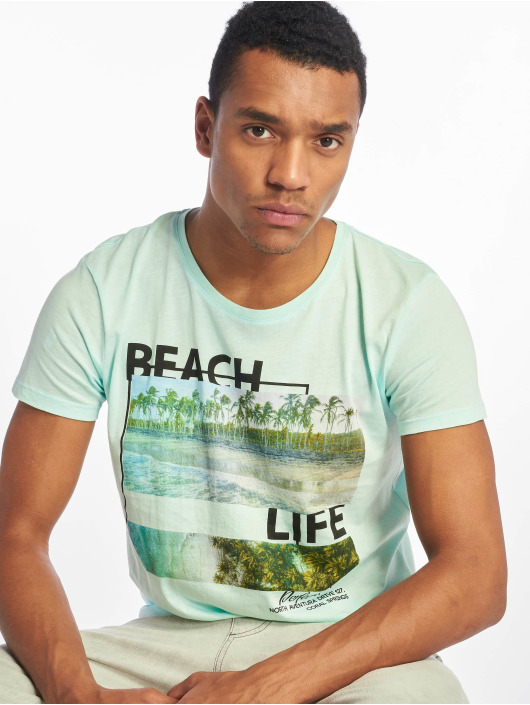 Stitch & Soul T-skjorter Beach Life turkis