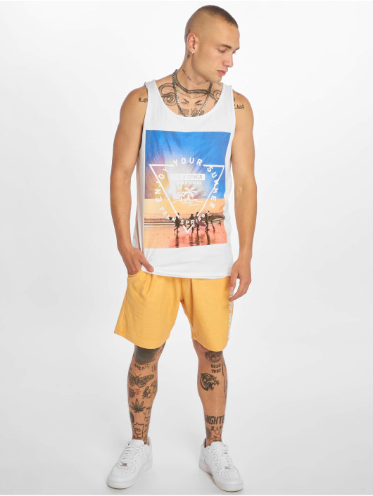 Stitch & Soul Tank Tops Enjoy white