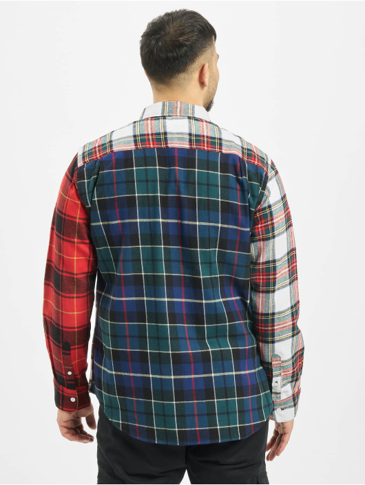 Stüssy Shirt Mixed Tartan Button Down red