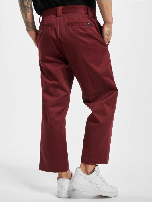 Stüssy Spodnie wizytowe Big Boi czerwony