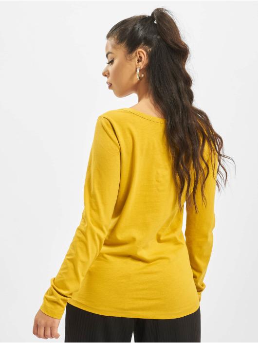 Sublevel Camiseta de manga larga Lace amarillo