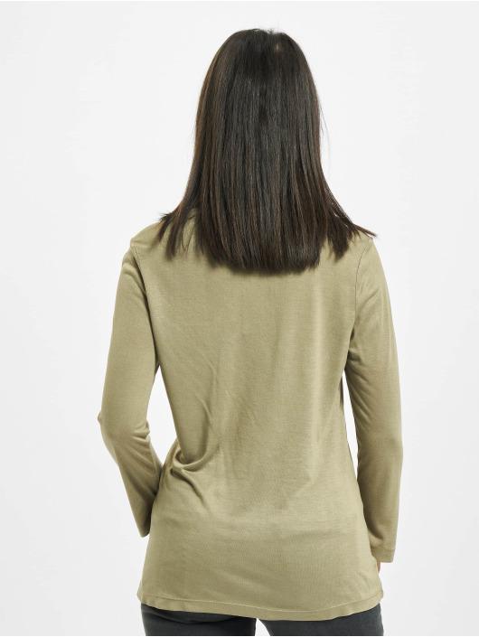 Sublevel Camiseta de manga larga Fine oliva